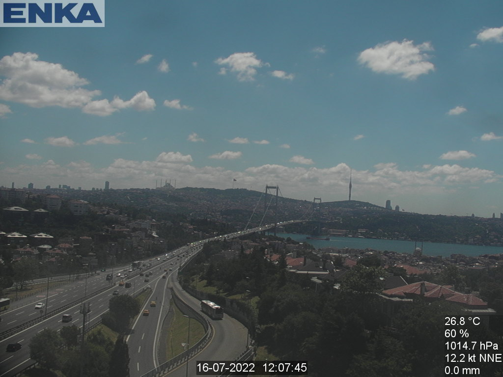 Istanbul, overlooking the Bosphorus bridge Live Cam, Turkey